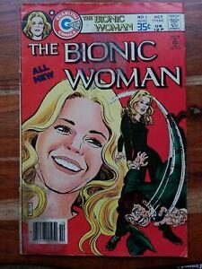 The Bionic Woman #1 Charlton Comics 1977 Bronze Age KEY