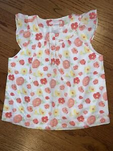 Janie And Jack NWT Poppy Garden Sz 10 Swiss Dot Floral Textured Floral Top