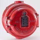 Vtg 1930's Fire Alarm Call Box Holtzer Cast Round Break Glass Strike W Hand 422