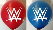 10 x WWE Wrestling Latex Party Printed Balloons WWF Red Blue Balloon Helium