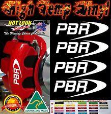 PBR BRAKE CALIPER HIGH TEMP DECAL STICKER SET X4 RALLY DRIFT JDM MOTORSPORT