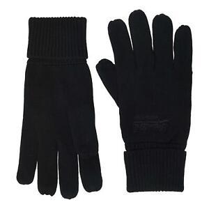 Superdry Vintage Logo Classic Gloves - Black NEW