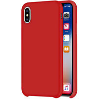 Liquide Étui en Silicone Pour Apple IPHONE XS Max 6.5 Protection TPU Rouge