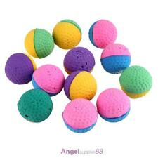 12pcs Funny Colorful Soft Latex Feathered Ball Toys Pet Cat and Dog Toys