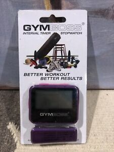 NEW Gymboss Interval Timer and Stopwatch - VIOLET/PINK METALLIC GLOSS