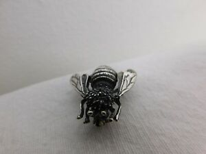 """1930s Mexican Sterling Silver 925 Fly Pin Mexico TN-87 Stamp 1"""" Weighs 5.9 Grams"""
