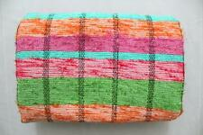 Indian Rectangular Hand Woven Chindi Rag Rug Handmade Floor Carpet Hippy Mat