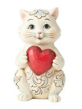 Enesco Jim Shore Heartwood Creek Pint Sized Cat Holding Heart Nib 6006225