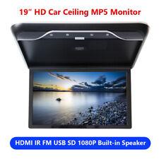 "19"" HDMI KFZ Deckenmonitor Decke Flipdown Monitor 1080P TV USB Video MP5 Player"