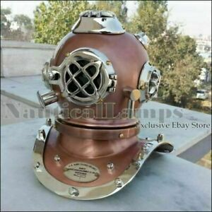 Vintage Solid Brass Nautical Deep See Mini Diving Helmet Reproduction 3987