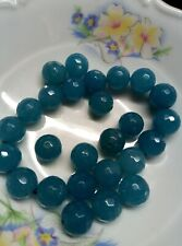 Faceted jade beads 12mm U314500