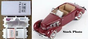 1937 Cord 812 Phaeton 1/24 Scale Limited Edition Franklin Mint B11SM57
