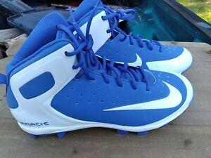 Nike Huarache FOOTBALL Cleats 923433-411 blue white size 10.5