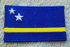 CURACAO FLAG PATCH Embroidered Badge Iron Sew on 3.8 x 6cm Curaçao Netherlands