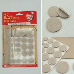27 Heavy Duty Self Adhesive Felt Pads Wood Floors Furniture Scratch Protection