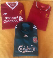 MIXED BUNDLE Football Sport Shirts LIVERPOOL Home YNWA Soccer Jersey Youth