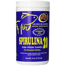ZOO MED - Spirulina 20 Fish Food Flakes - 4 oz. (113.4 g)