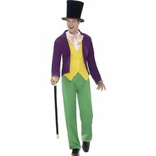 Roald Dahl Willy Wonka Factory Adult Book Week Adults Mens Fancy Dress Costume