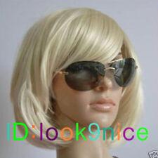 NEW Sexy Fashion short blonde straight Women's bob wig + Free wig cap