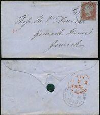 Penny rouge écossais local utilisé comme annuler... Charlotte place boxed pour Gourock + sceau