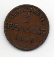 Germany - Bavaria / Bayern - 1 Pfennig 1858