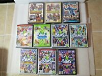 Lot Of 10 The Sims 3 Expansion Packs and Nancy Drew Win Mac Dvd-Rom Complete