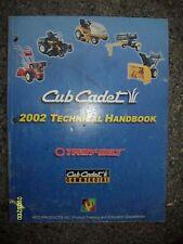 Vintage 2002 Cub Cadet Troy Bilt Technical Handbook Lots of Pages