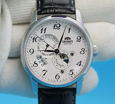 NWT ORIENT Classic Automatic 3nd Generation Sun And Moon Watch RA-AK0003S