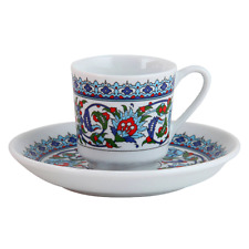 Kütahya Porselen Topkapi Mokkatassen Espressotassen 12 tlg Mokka Türk Kahve Seti