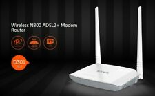 Tenda D301 Wireless N300 ADSL2+ Modem Router - D301v2