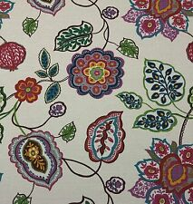 "VILBER TEXITLES DIBUJO PAIPAI D4127 LARGE FLORAL HEAVY LINEN FABRIC BY YARD 54""W"