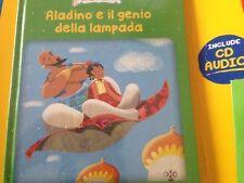 LEGGIAMO UNA FAVOLA-1°USCITA-ALADINO E IL GENIO DELLA LAMPADA-LIBRO+CD AUDIO-RBA