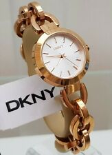 ** DKNY Ladies Watch Rose Gold tone Chain Bracelet RRP£180 (534)