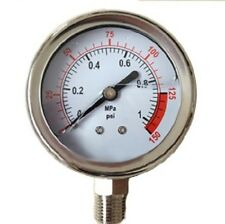 "0-150 psi 2.5"" Hydraulic / Air / Water Pressure Gauge Liquid oil Filled"