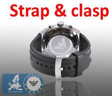 Emporio Armani AR0527 Watch Strap With Clasp Rubber