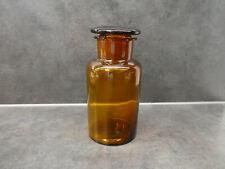 ancien flacon de pharmacie, verre brun