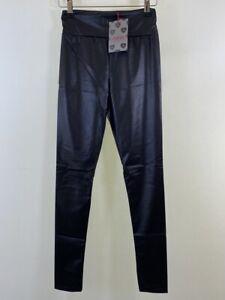 BNWT BOOHOO carly wet look full length leggings size 10 euro 38 NEW