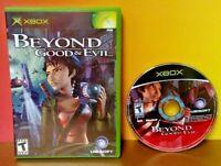 Beyond Good & Evil - Microsoft Xbox OG Game Rare Tested Works Nice Disc -