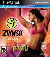Zumba Fitness For PlayStation 3 PS3 Game Only 8E