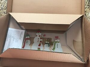 Pampered Chef Snowmen Rectangle Platter 2812 New In Box