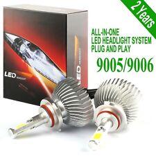 2PCS 2016 9005 LED Headlight 9006 Headlamp 60W 6000lm Vehicle Beam Bulb Kit
