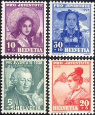 Suiza 1938 Caja de socorro/Disfraces/Ropa/Textil/Sombreros 4 V Set (ch1027)