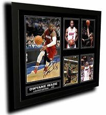 DWYANE WADE MIAMI HEAT SIGNED LIMITED EDITION FRAMED MEMORABILIA