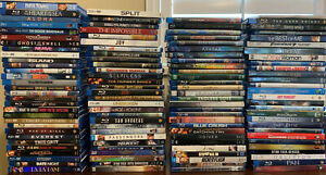 READ! HUGE LOT of 114 Blu-Ray Movies Collection Mixed Star Wars Marvel Family