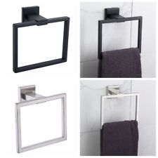 Modern Square Wall Mounted Hand Towel Ring Holder Bathroom Accessories