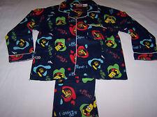The Simpsons Bart Boys I Didnt Do It Navy Blue Flannel Pyjama Set Size 4 New