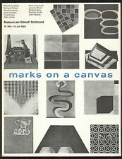 Marks on a Canvas - young artists 1969 Exhibition at Museum am Ostwall Dortmund