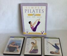 Pilates Lot Simply Pilates Book & DVDs Gaiam Exercise FREE SHIPPING!!