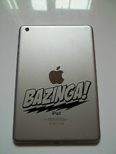 1 x Bazinga Decal - Vinyl Sticker for iPad Mini Big Bang Theory Sheldon Cooper