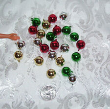 FASHION DOLL SIZE 1/6 MINIATURE BALL CHRISTMAS TREE ORNAMENT LOT #6